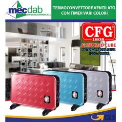 Termoconvettore Ventilato Con Timer Extended Cube Vari Colori Cfg
