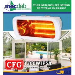 Stufa infrarossi per Interno ed Esterno 1300W IP54  SoleBianco CFG
