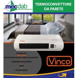 Termoconvettore da Parete 2000W con Telecomando e Timer TCWH20D Vinco