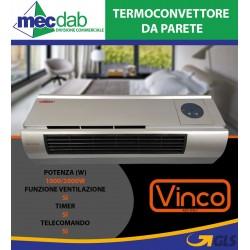 Termoconvettore da Parete 2000W con Telecomando e Timer KPT-2000B5201R Vinco