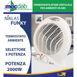 Termoventilatore Verticale per Ambienti In ABS 2000W Niklas Funky