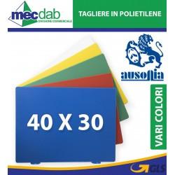 Tagliere in Polietilene Da Macellaio 40 x 30 Cm Colore Verde Rosso Blu Bianco Giallo Ausonia