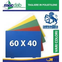 Tagliere in Polietilene Da Macellaio 60 x 40 Cm Colore Verde Rosso Blu Bianco Giallo Ausonia