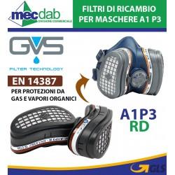 Filtro Di Ricambio Maschere A1 P3 RD Per Gas e Vapori Organici GVS SPR341