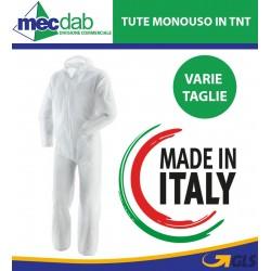 Tuta Monouso in TNT Di polipropilene Con Cappuccio e Chiusura Zip Unisex Varie Taglie