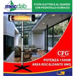 Stufa Elettrica al Quarzo 2500W Con Piedistallo Scirocco - E070 CFG