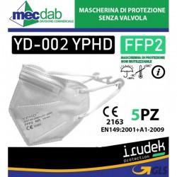 Mascherina di Protezione Senza Valvola 5 Pezzi YD-002 YPHD  FFP2 Irudek