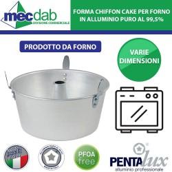 Stampo Chiffon CAKE Forma per Forno in Alluminio Puro Pentalux Varie Dimensioni