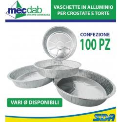 Vaschette Vassoi Alluminio Tonde Alupack Per Tortiere Confezione 100 Pezzi