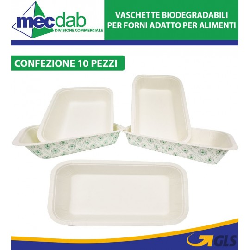 Vaschette Monouso Biodegradabili Per Alimenti e Forno Varie Dimensioni