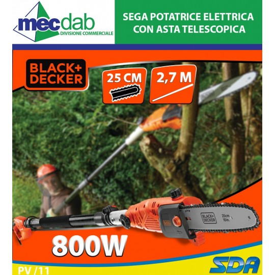 Sega Potatrice Elettrica con Asta Telescopica fino a 2.7m 800W - 25cm Blacka&Decker