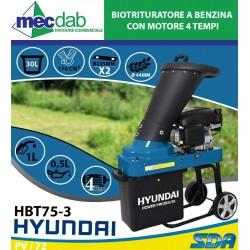 Biotrituratore a Benzina con Motore 4 Tempi - Taglio Ø4,4 cm 30 L Hyundai