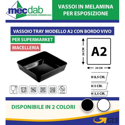 Vassoio A2 Per Salumeria in Melamina Vassoi Per Vetrina Alimenti 36 x 24 Cm