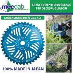 Disco Universale per Decescpugliatore Ø 255 x 2 mm Made in Japan Materiale Speciale Resistente Agli Urti
