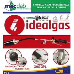 Cannello a Gas Professionale per la Posa delle Guaine con Leva Accensione Piezoelettrica Idealgas