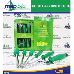 Set di Cacciaviti Torx Professionali 6 Pezzi 488TX