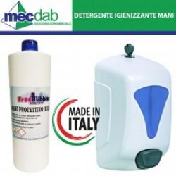 Detergente Igienizzante Mani Gel 1KG e Dispenser Mani a Scelta