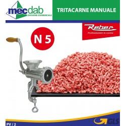 Tritacarne Manuale a Manovella e Morsetto Reber 8680N - N° 5