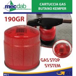 Cartuccia Butano con Sistema Di Sicurezza Stop Gas Kemper 190Gr