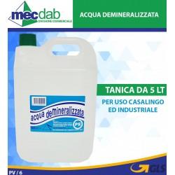 Acqua Distillata Demineralizzata Tanica Da 5 LT Uso Domestico Ed Industriale