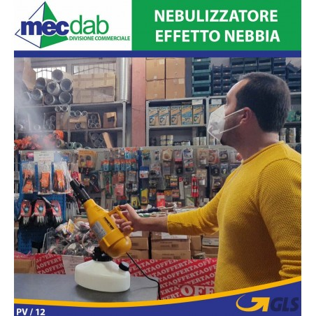 1-Head Nebulizzatore Nebbia Macchina Nebulizzatore Water Fountain Spina EU