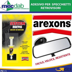 Adesivo Per Specchietti Retrovisori Interno Per Auto Arexons SYSTEM RW741