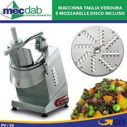 Tagliaverdure Tritamozzarella Professionale Vieste 515 Watt In Acciaio Inox