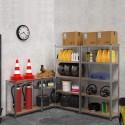 Scaffale Ad Incastro In Acciaio zincato Con 5 Ripiani In Truciolato Resistente 180 x 90 x 40