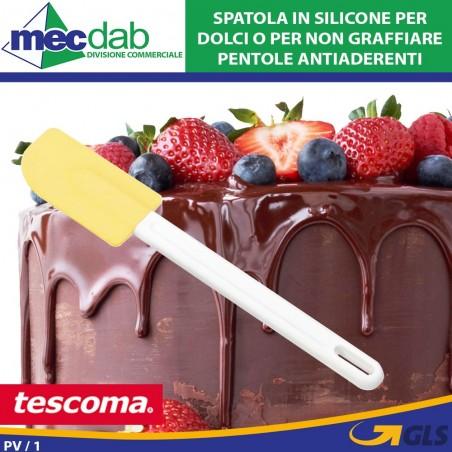 Spatola In Silicone Con Manico In Plastica Bianca Resistente Tescoma