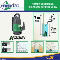 Pompa Sommersa per Acque di Torbide 550W PRPVC550C Ribimex