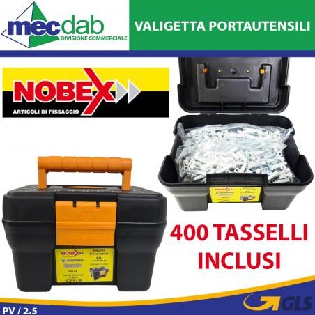 Valigetta Portautentili Con 400 Tasselli In Nylon 6 x 30 Nobex Art Plast