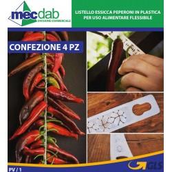 Listello Essicca peperoni in Plastica per uso Alimentare flessibile Conf 4