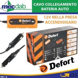 Cavo Collegamento Batteria Auto Attacco 12V  50W Defort DBC-12