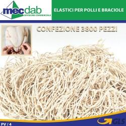 Elastici Per Polli Ed Involtini Di Carne Confezione Da 3800 Pezzi Fralast 13/647