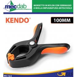 Morsetto in Nylon con Serraggio a Molla Impugnatura Antiscivolo 100mm Kendo