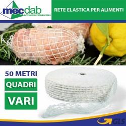 Rete Elastica Per Alimenti Rotoli da 50 Metri Confezione Varie
