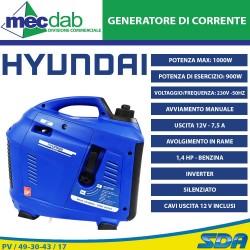 Generatore Di Corrente Inverter Silenziato Benzina 1,4 HP 1 Kw Con Hyundai TG1000i