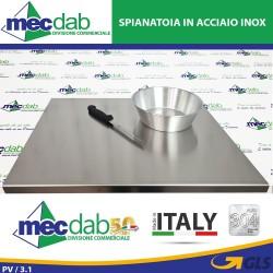 Spianatoia Tagliere In Acciaio Inox Da Tavola Universale Per Cucina e Laboratori