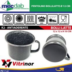 Pentolino Bollilatte Gas Elettrico Ed Induzione Ø 12 Cm Vitrinor K2 Pote