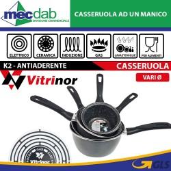 Casseruola Antiaderente Ad Un Manico Vitrinor K2 Ad Induzione Elettrico e Gas