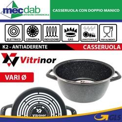 Casseruola Antiaderente 2 Manici Ad Induzione Gas Ed Elettrico Vitrinor K2