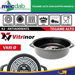 Tegame Alto Antiaderente Con Doppi Manici Vitrinor K2 Gas Induzione Elettrico