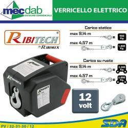 Verricello Elettrico 12V Per Auto Con Interruttore Differenziale Ribitech PE12V