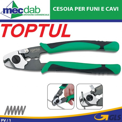 Cesoie Per Funi Cavi e Trefoli Toptul Taglia Funi D' acciaio Ø 4 mm