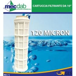"""Cartuccia Filtrante Lavabile Da 9"""" 3/4 - 120 Micron Rimuovi Sedimenti CFS"""