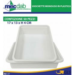 Vaschette Monouso in Plastica Per Alimenti 17 x 13 x H 4 Cm