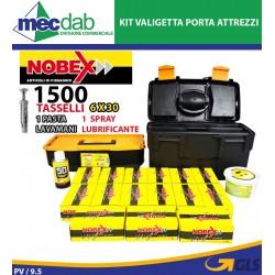Kit Valigetta Porta Utensili Con 1500 Tasselli in Nylon Pasta Lavamani e Spray Lubrificante Nobex
