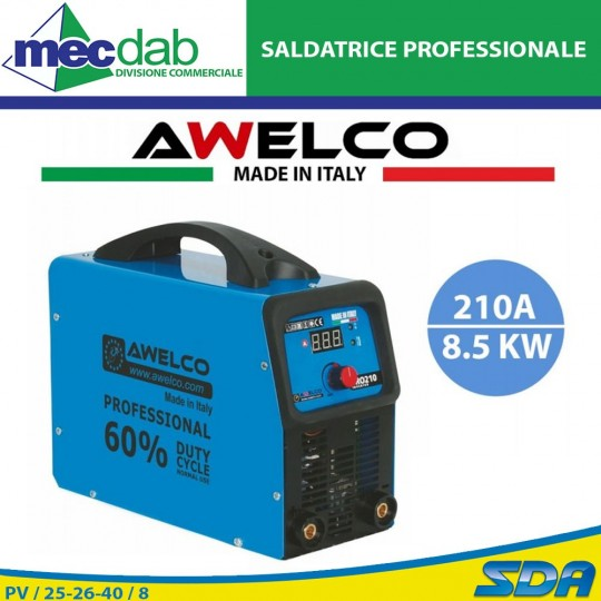 Saldatrice Inverter Professionale TIG 210A Awelco PRO 210