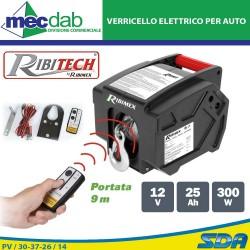 Verricello Elettrico Per Auto 12V 500 Kg 9 Metri Con Telecomando Ribitech PE12V/T1