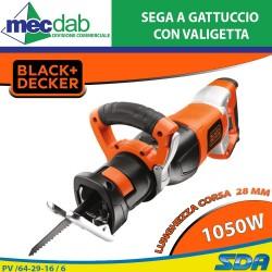 Sega a Gattuccio Elettrica 1050 Watt Corsa Lama 28 mm Black+Decker